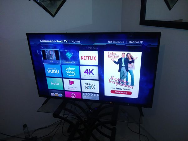 50 inch Element Smart T V  with Ruku for Sale in Phoenix, AZ - OfferUp