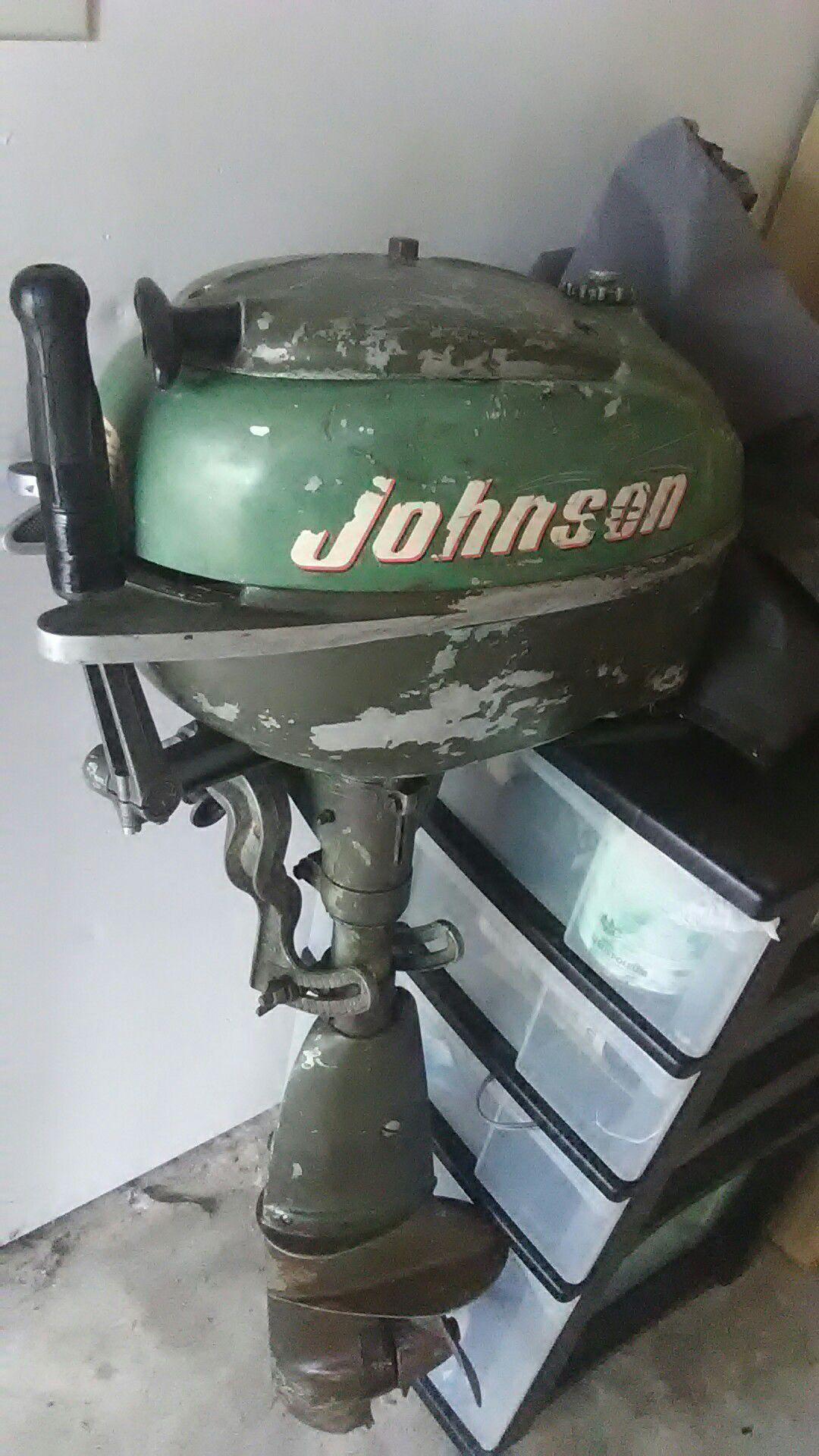 1964 Outbord Johnson Engine