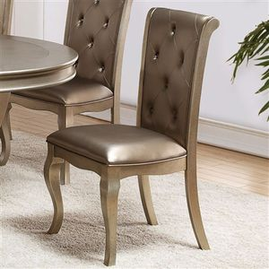 Mina Champagne Round Dining Set | 2166 for Sale in Houston, TX