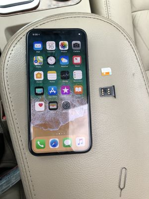 iPhone X 64GB Unlocked with turbo sim $600 firm will work for all carriers!!! for Sale in Philadelphia, PA