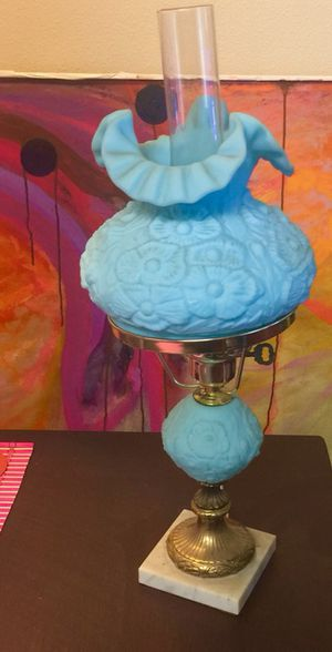 """Vintage Fenton Lamp """"Gone with the Wind"""" Blue Lamp for Sale in Fresno, CA"""