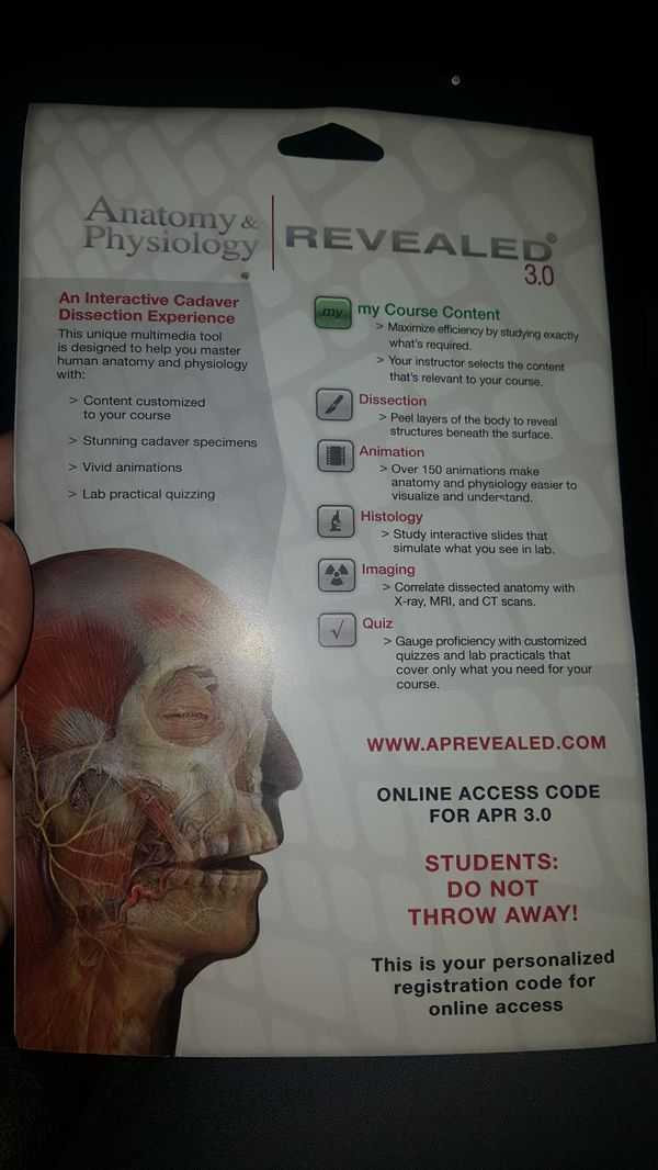 Anatomy and Physiology Revealed access code for Sale in McGregor, TX ...