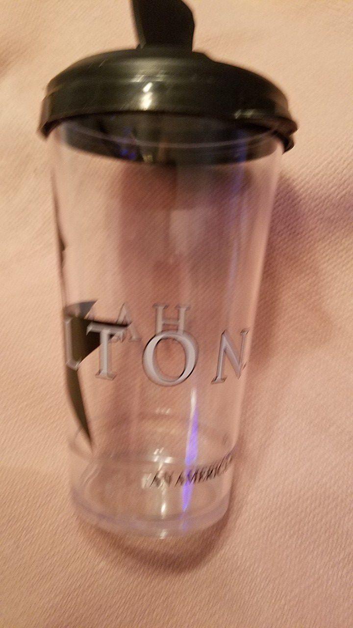 Broadway official Hamilton souvenir travel cups