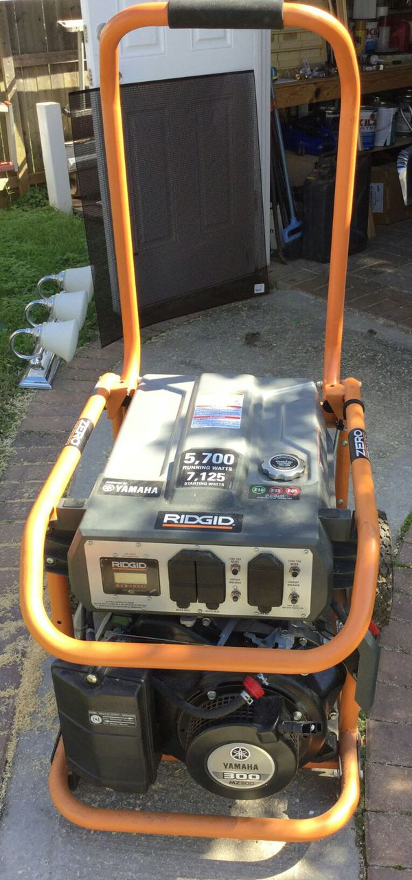 Ridgid 5700 Watt Gasoline Powered Generator for Sale in Islip Terrace, NY -  OfferUp