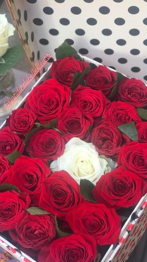 Valentine's Day 24 roses / 2 dozens in Box with Chocolates for Sale in San Diego, CA