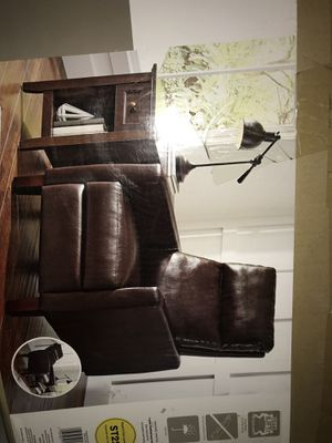 Cognac brown pushback bonded leather recliner for Sale in Avondale, AZ
