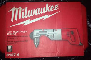 Milwaukee 1/2 right angle drill kit for Sale in Durham, NC