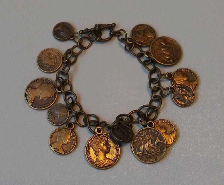 Handmade Brass Coin Bracelet