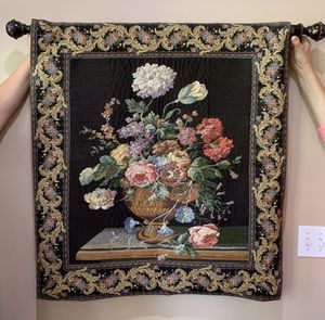 Photo Tapestry Floral Wall Hanging
