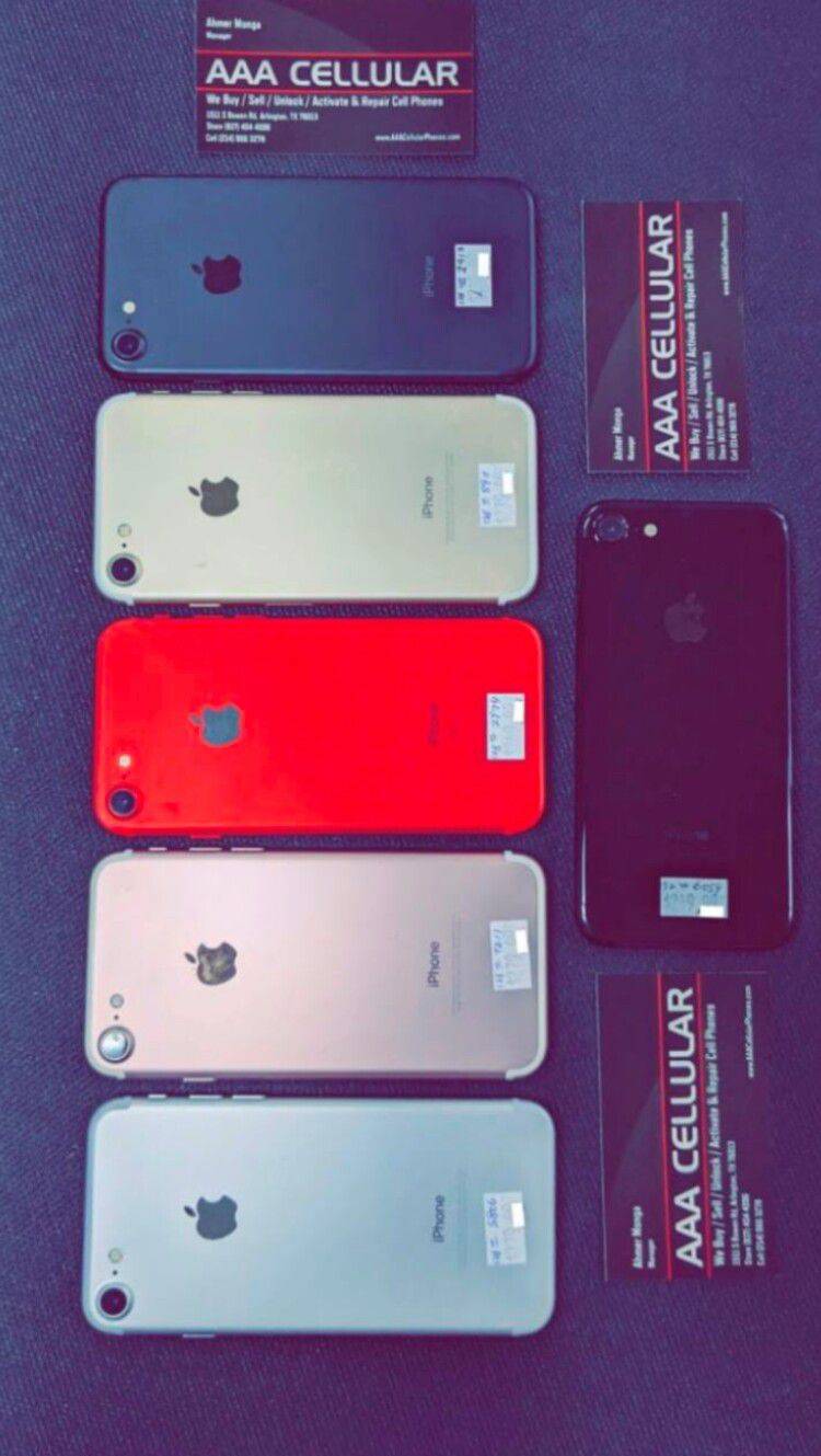 iPhone 7, 256gb / 128gb / 32gb - Factory Unlocked, Excellent Condition, Free Charger and 30 days Warranty!