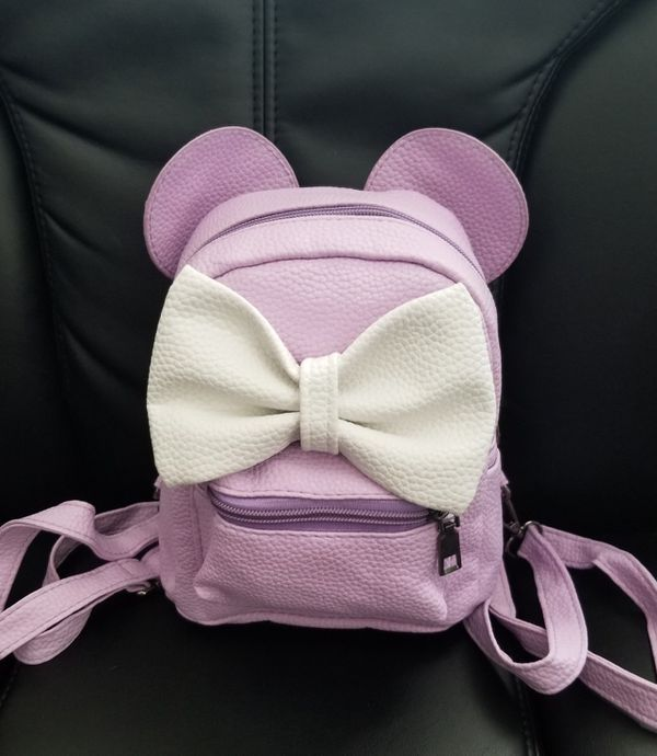 6f10c3d287f Purple   white Minnie Mouse Backpack for Sale in Colton