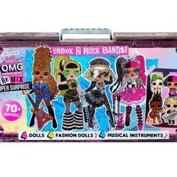 L.O.L. Surprise! O.M.G. Remix Super Surprise – 70+ Surprises, 4 Fashion Dolls & 4 Dolls Thumbnail