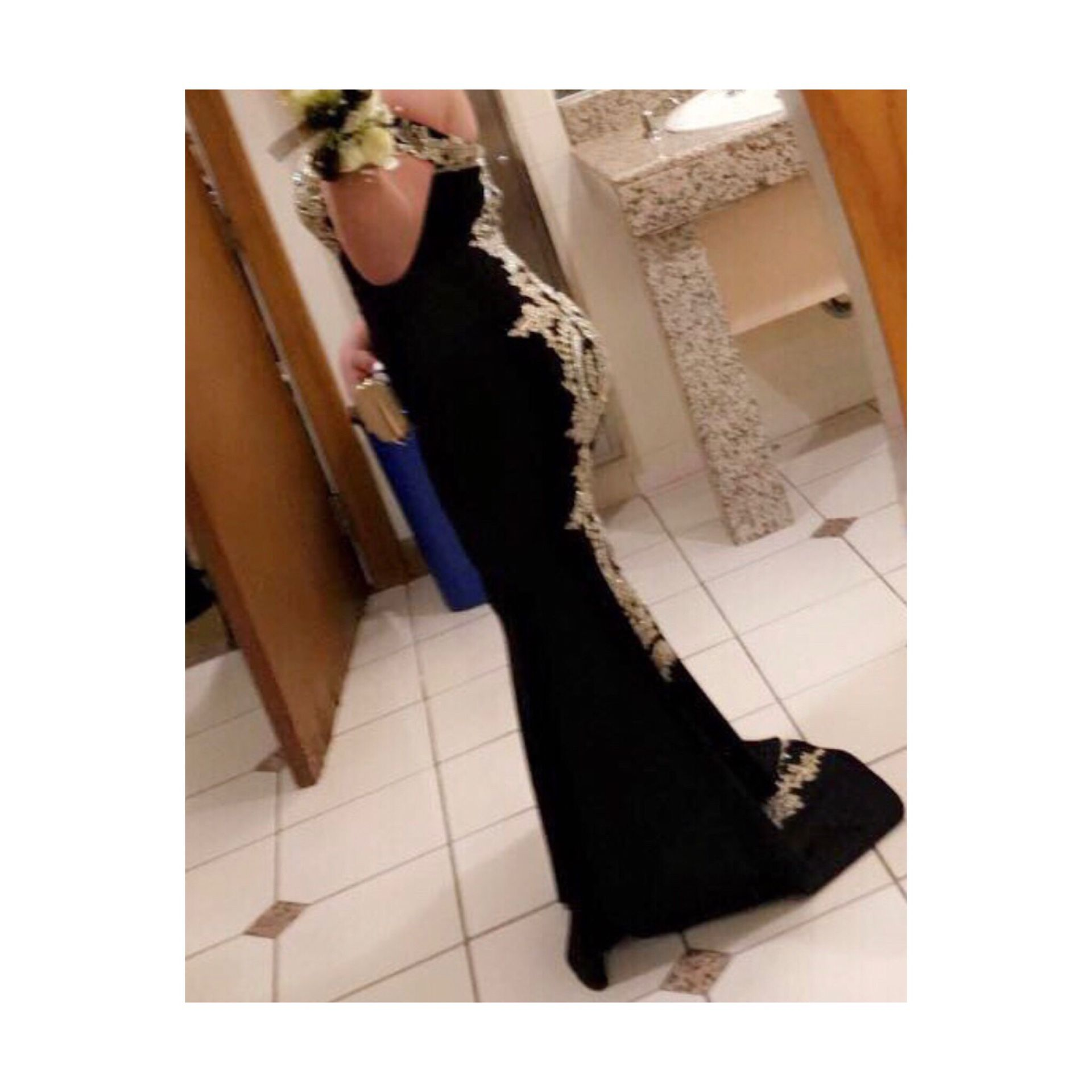 Prom Black and Gold dress