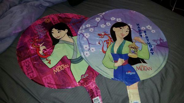 4 Pc Mulan Birthday Mylar Balloons Los Angeles