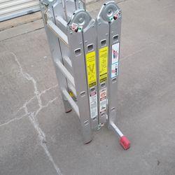Krause 17 Ft Multiposition Aluminum Ladder Like New Thumbnail