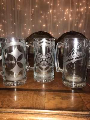 8 dlls any cualquier de estos from this post beer mugs for Sale in Fontana, CA