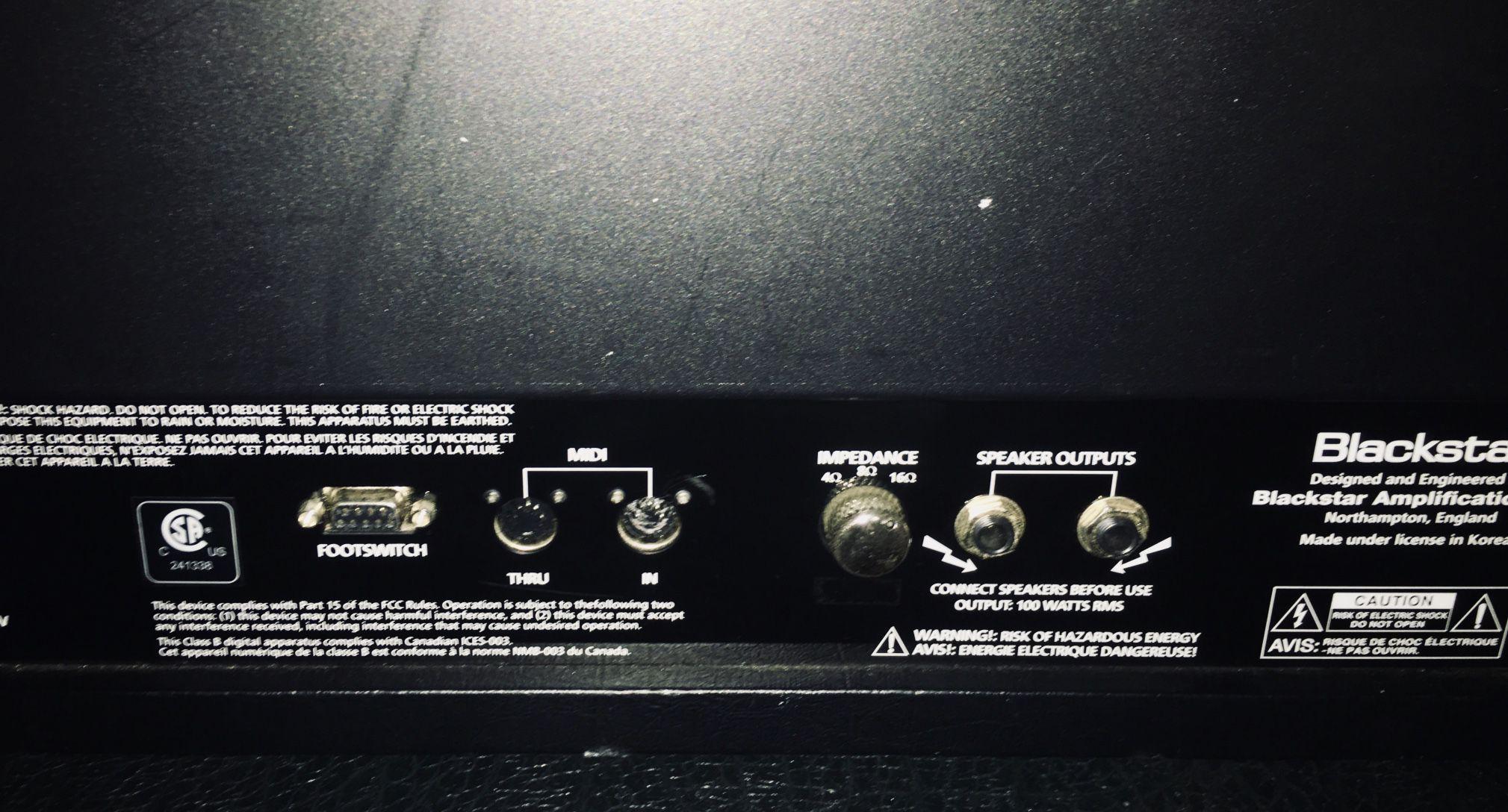 Blackstar Series One 100 Watt Tube Amp ( + Footswitch )