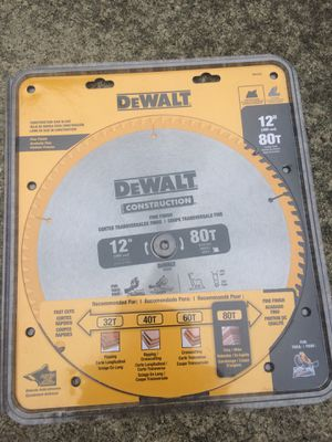 "NEW Dewalt 12"" 80T Miter Saw Blade for Sale in Gambrills, MD"