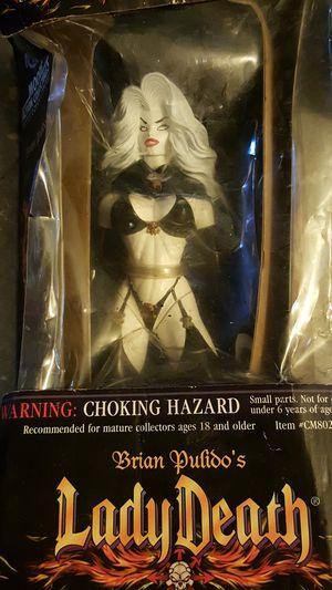 Lady death action figure collectable, also have comics for sale for Sale in Boca Raton, FL