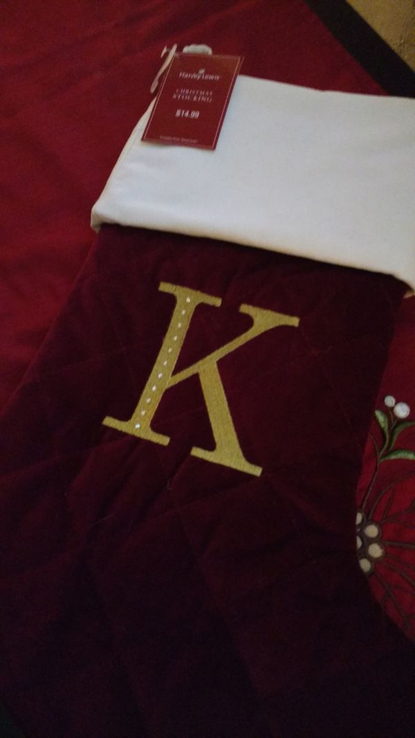 Brand New Velvet Christmas Stocking Purchased From Bed Bath Beyond