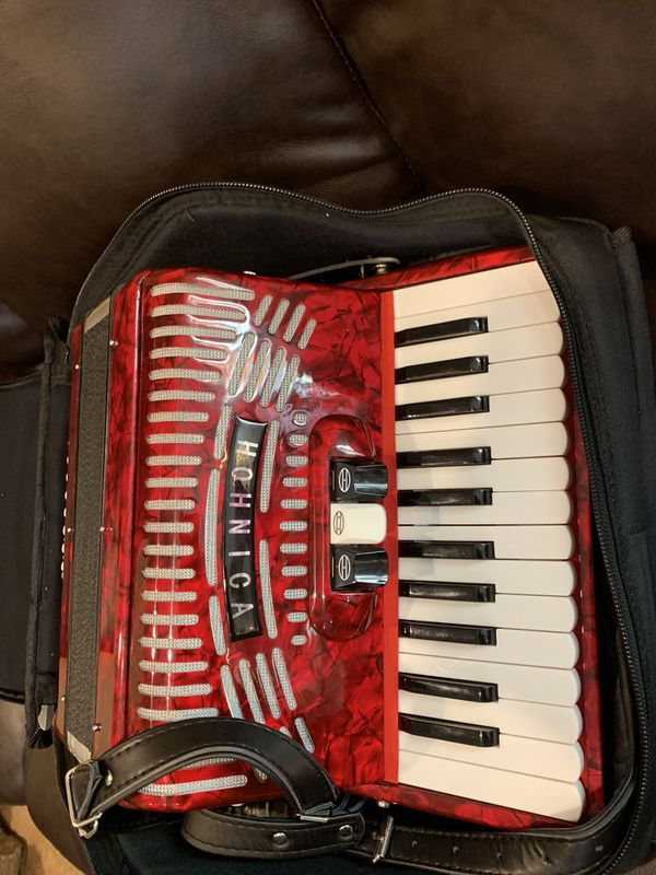 Hohner 48 Bass Keys, Piano Accordion Red for Sale in Ontario, CA - OfferUp