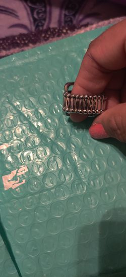 Purple rhinestone ring Thumbnail