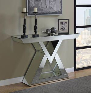 CONSOLE TABLE CLEAR MIRROR for Sale in Hialeah, FL