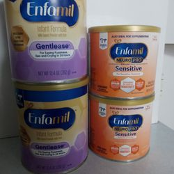 Enfamil Gentlease & Neuropro Sensitive Baby Food Formula Can Thumbnail