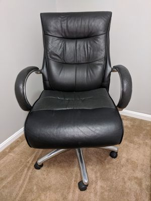 Leather desk chair with chrome base for Sale in Vienna, VA