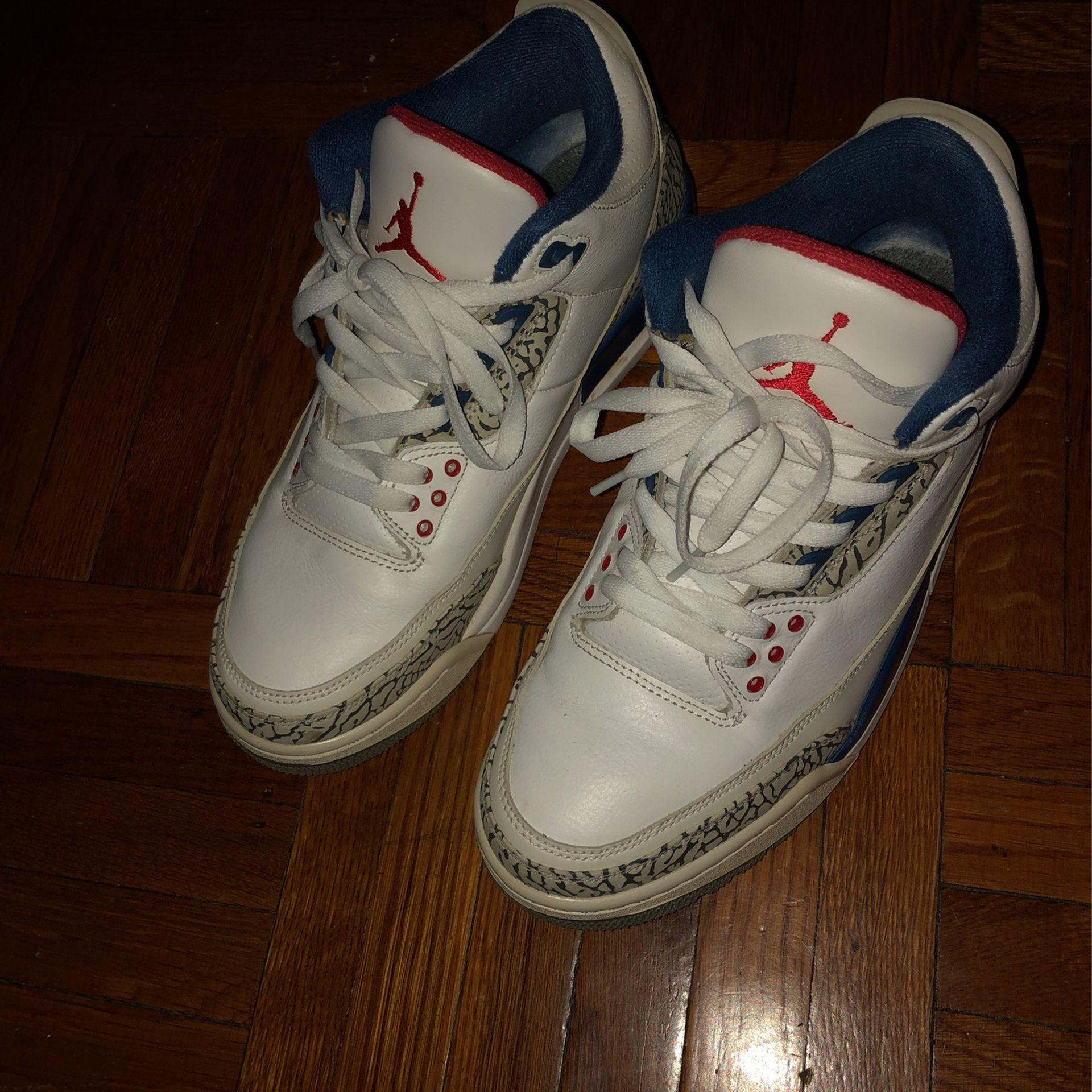 True Blue 3s Size 9 $120