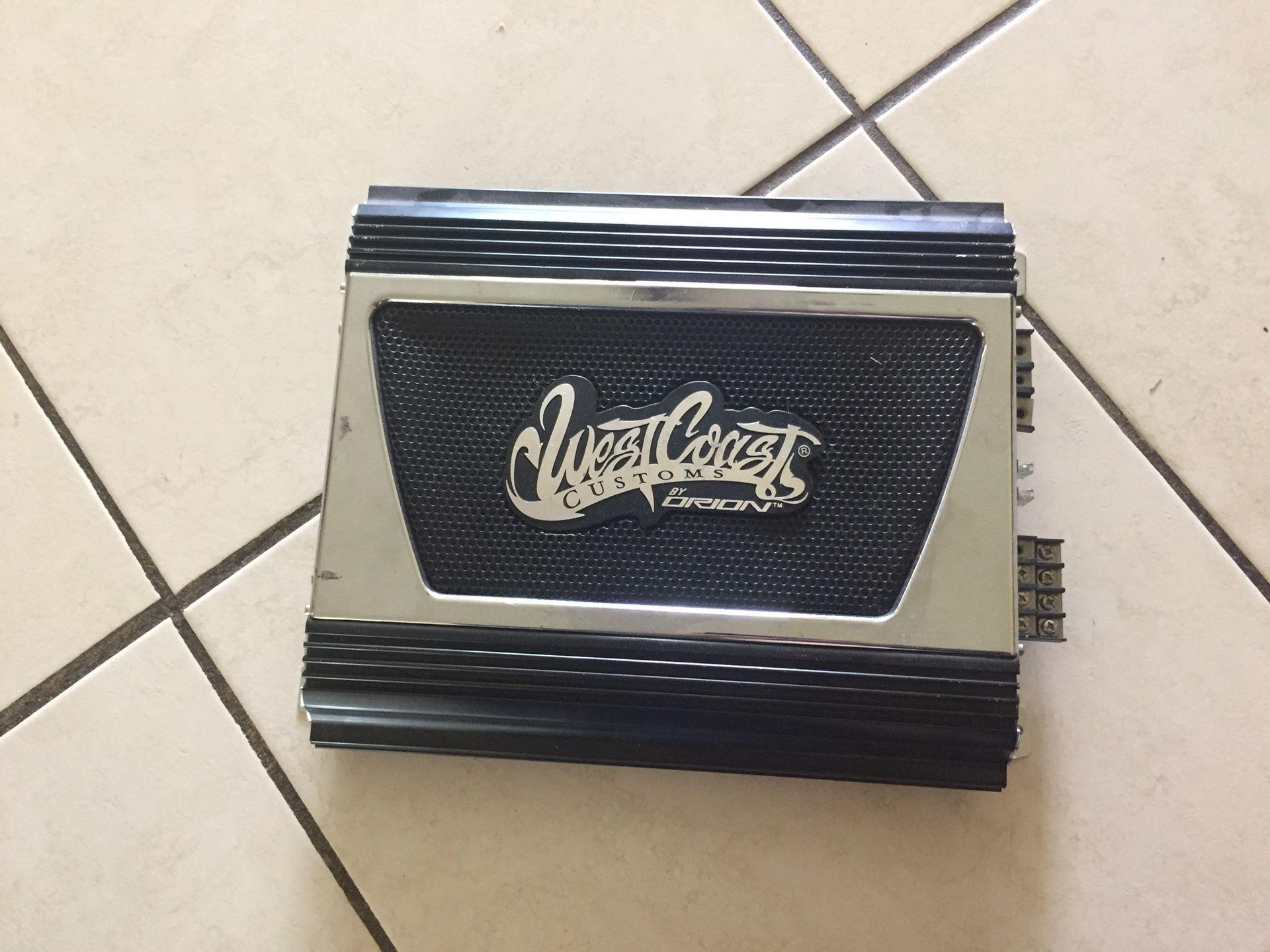 West coast customs car amplifier