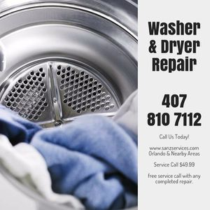 Washer or Dryer Repair for Sale in Orlando, FL