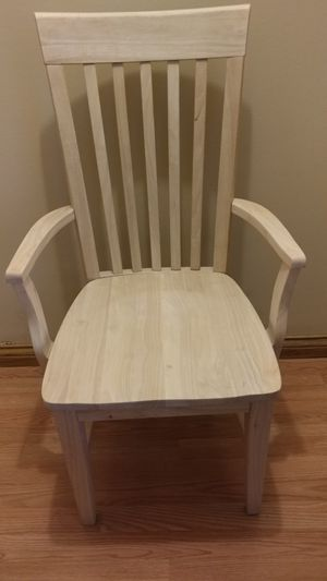 New Assembled Unfinished Wood Tall Mission Accent Dining Chair For In Cincinnati Oh