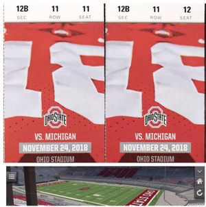 OSU vs. Michigan football tickets for Sale in GRANDVIEW, OH