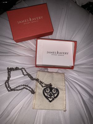 Photo James Avery Retired Heart Pendant with chain