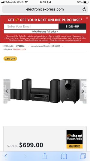 Onkyo 7.1 home theater for Sale in Herndon, VA