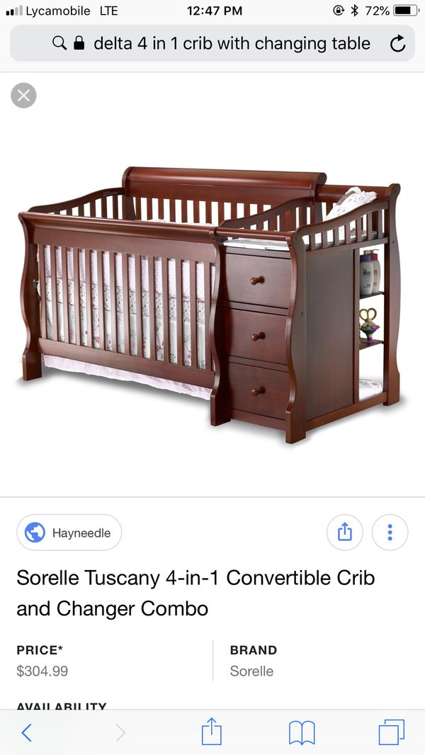 Sorelle 4 In 1 Crib With Changing Table For Sale In Reading Pa