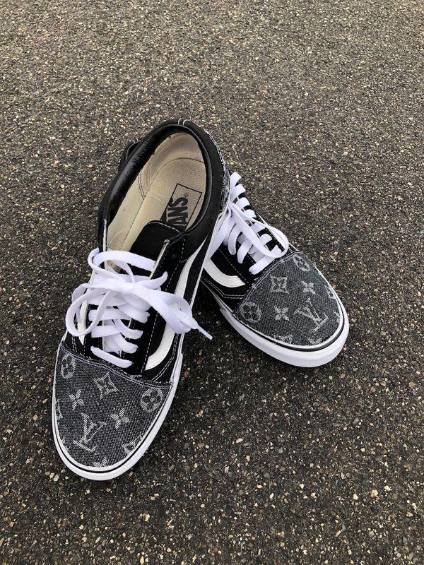 Custom Louis Vuitton Vans Old Skool ANY SIZE For Sale In Corona CA