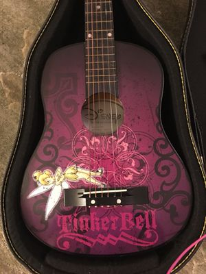 REDUCED PRICE - Washburn Kid's 3/4 scale Disney's Tinkerbell Acoustic Guitar for Sale in Annandale, VA