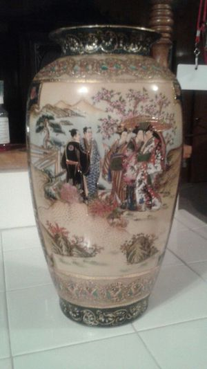 Han Dpainied Royal Satsuma Hand Painted Vase For Sale In Dallas Tx