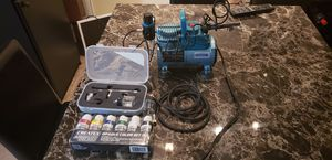 Masters airbrush compressor kit with paints for Sale in Alexandria, VA