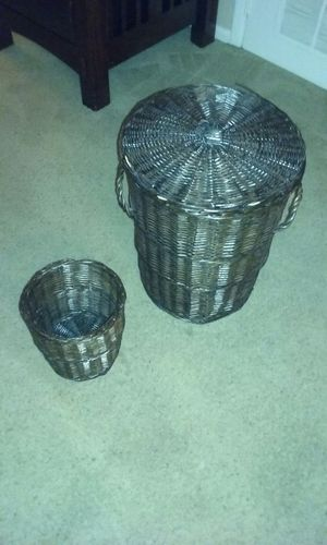 Laundry basket with smaller matching basket for Sale in Gaithersburg, MD