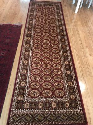 Brand new carpet runner size 3x10 nice red burgundy rug bokhara design rugs for Sale in Springfield, VA