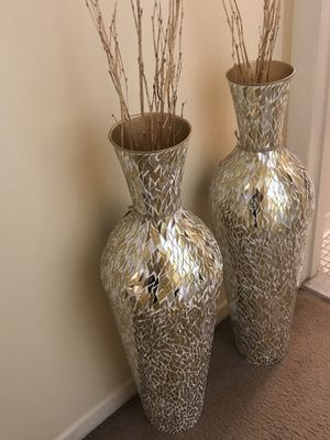 """Brand new set large 30"""" tall mosaic vases free bamboo sticks click on my profile picture on this page to check out my other listings pick up in Gaith for Sale in MONTGOMRY VLG, MD"""