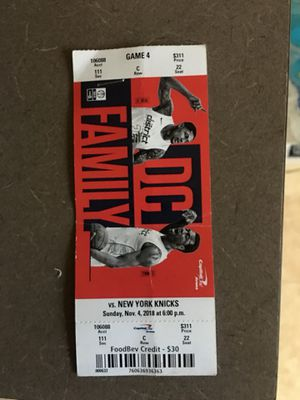 2 tickets great seats and 30$ food credit for Sale in Takoma Park, MD