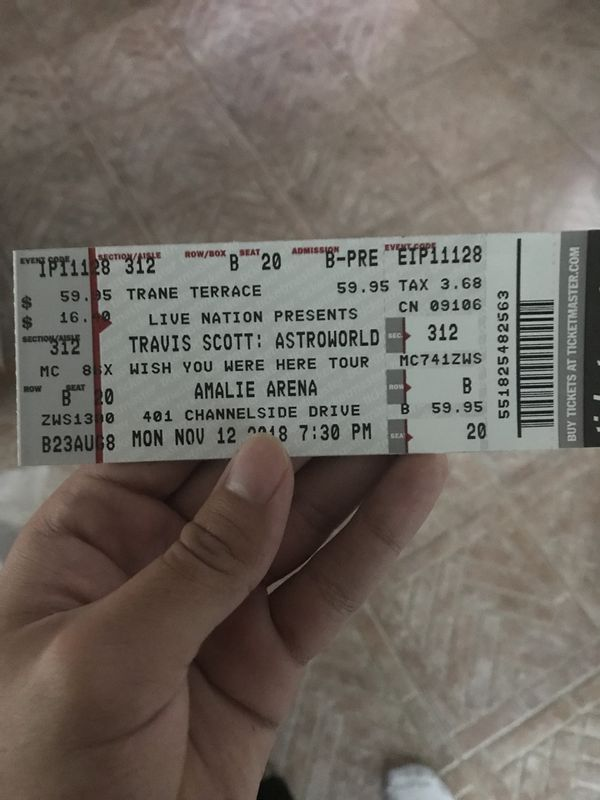 c40144a58740 Travis scott Astroworld ticket for Sale in Tampa, FL - OfferUp
