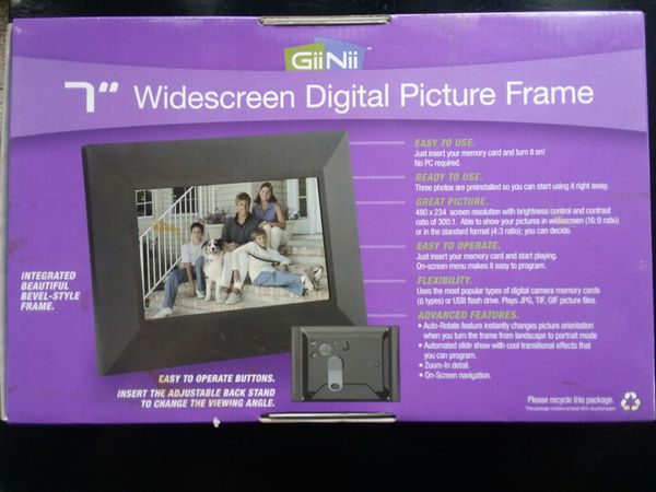 New Giinii 7 Digital Picture Frame For Sale In Mount Dora Fl Offerup