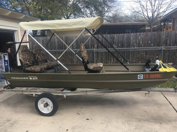 """12ft Jon Boat """"Fully Loaded"""" with 2 motors!! for Sale in San"""