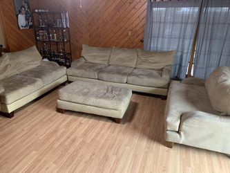 Dark Beige Sectional - 4 Pieces Thumbnail