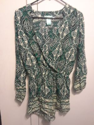 Green and white pattern romber for Sale in Gaithersburg, MD